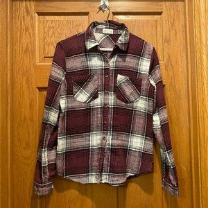 Maurices Plaid Button Down Flannel Shirt, S